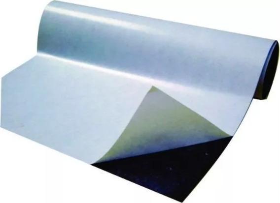 Rolo 3 Metros Manta Iman Magnética Adesivada 0,3mm Fermag