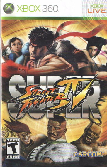 Manual De Instrucoes Super Street Fighter 4-xbox360/original