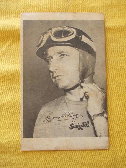 381-tarjeta Publicidad J. M. Fangio - Suixtil 10 X16cm