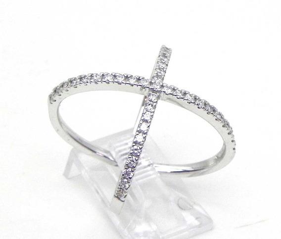 Anel Em Ouro Branco 18k !!! E Diamantes !!
