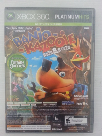 Banjo-kazooie Nuts & Bolts E Viva Piñata Xbox 360. Original