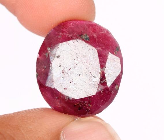 Vermelho Rubi Oval 3.3 Corundum
