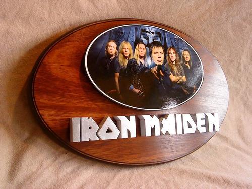 Iron Maiden Cartel En Relieve En Cedro!!!