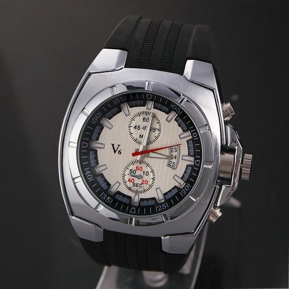 Relógio Esportivo V6 , Caixa De Aço .