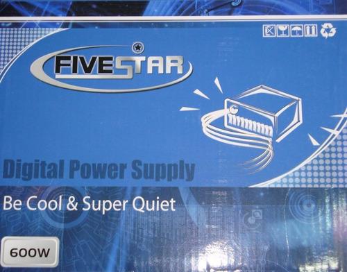 Imagen 1 de 1 de Fuente Poder 600w Fivestar Nueva Pc Compu Escritorio Oferta