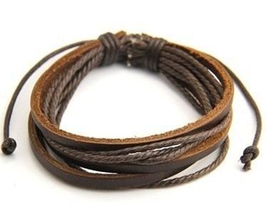 Pulseira Bracelete Unissex - Marrom