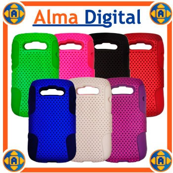 Forro Doble Perforado Blackberry Bold 6 9790 Carcasa Silicon