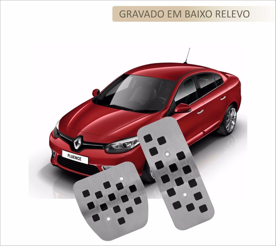 Pedaleira Aço Inox Premium Renault Fluence