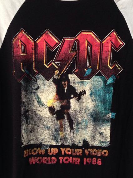 Camiseta Acdc Ac Dc Tour 1988 Tam M