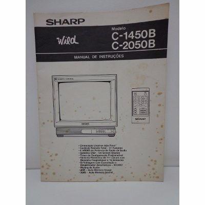 Manual De Instruções Tv Sharp Modelo C-1450b E C-2050b
