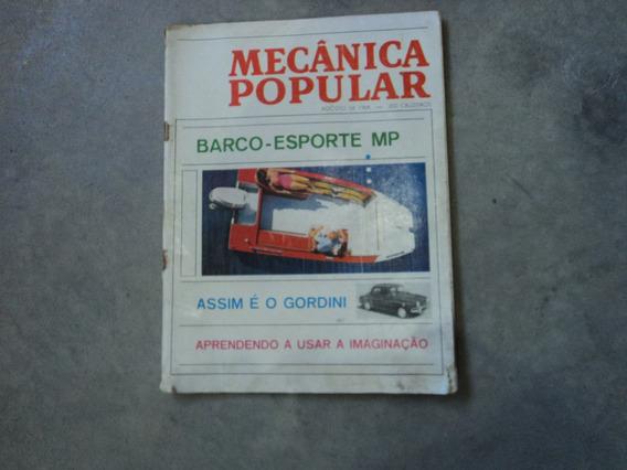 Revista Mecânica Popular Barco Esporte Mp 1964