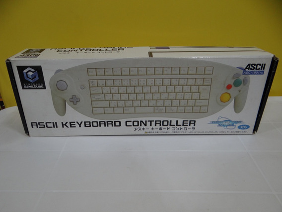 Ascii Keyboard Controller - Game Cube - Completo!
