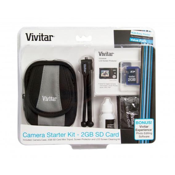 Kit Para Câmera Digital Com Bolsa, Tripé E Acessórios