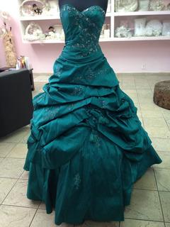 Vestido De Vx Años En Color Verde Jade Mori Lee