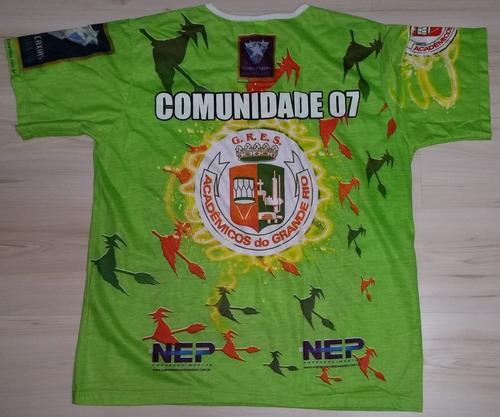 Camisa Do Academicos Do Grande Rio Comunidade 07 - Tam G