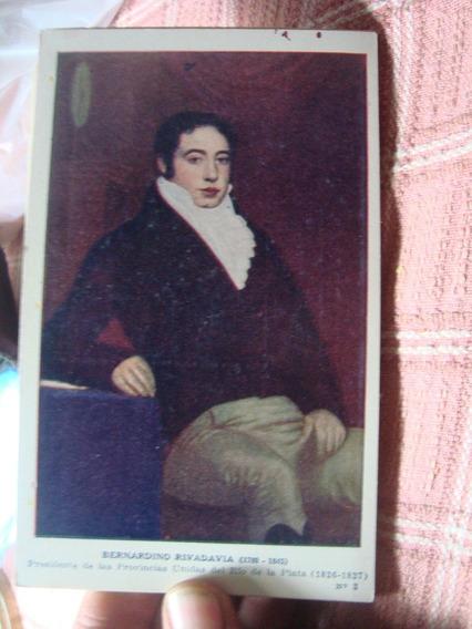 Antigua Tarjeta Postal Bernardino Rivadavia Prócer Kapeluz