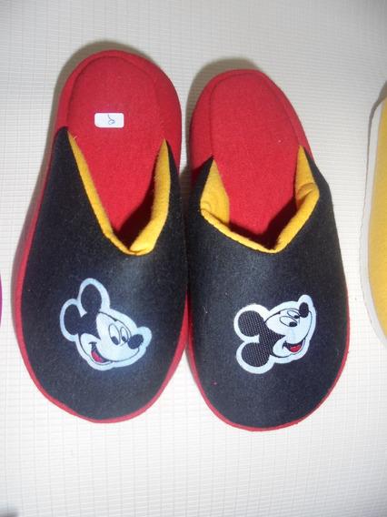 Chinelas Pantuflas De Niños De Mickey. (del 26 Al 36)