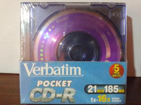 5 Mini Cd-r Pocket Verbatim Lacrados