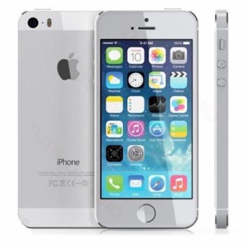 iPhone 5 Prata 16gb Com Todos Acessórios