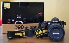 Nikon D90 (kit Lente 18-105 + Sd 32gb + 2 Bateria + Grimp)