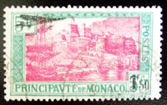 Mónaco - Sello Yv. 1 Aéreo 1fr50 + Avión S-5fr Usado L4513