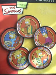 Los Simpson 5 Posavasos De Los Personajes De Tv Los Simpsons