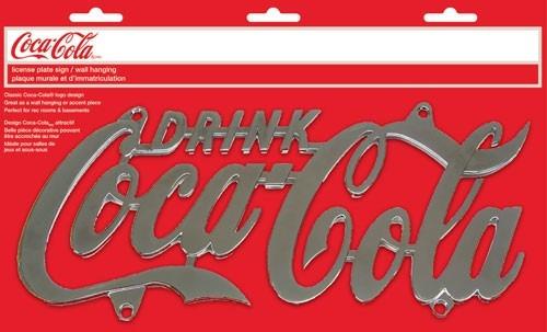 Decoración De Pared Licencia Coca-cola Placa Metal Cromado