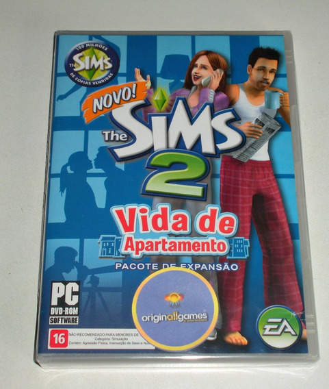 The Sims 2 Vida De Apto ¦ Jogo Pc Orig Lacrad ¦ Mídia Física