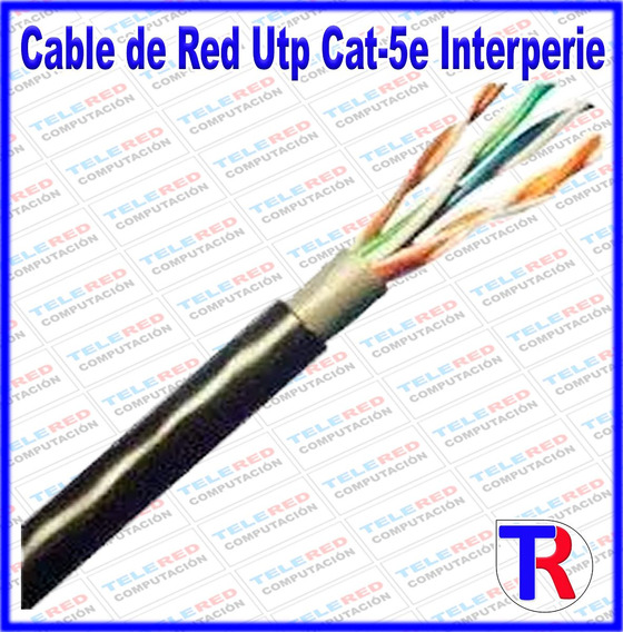 Cable De Red Utpcat-5e Internet Para Interperie Outdor 10mts