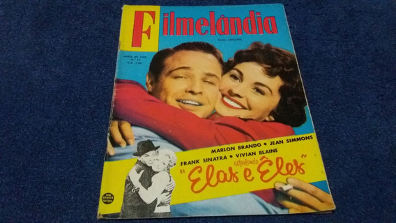 Revista Filmelandia Nº 17 Abril/56 Marlon Brando/frank Sinat