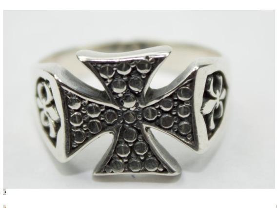 Anel Templario Prata 950