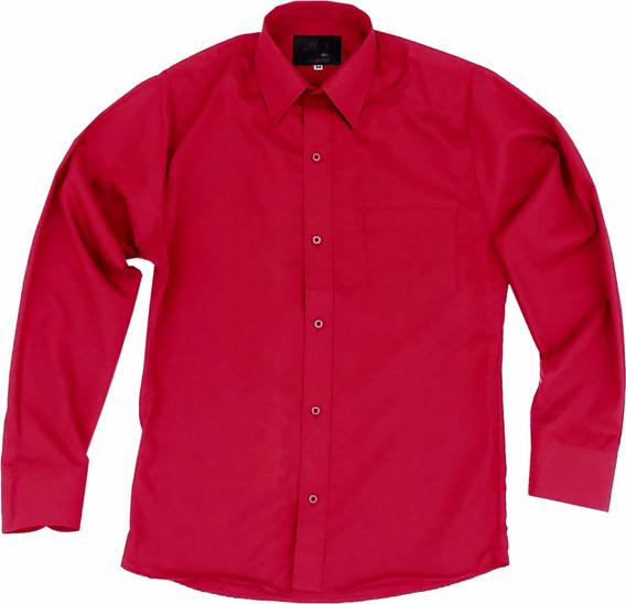 Camisa De Vestir Para Adulto Roja 34 A 42