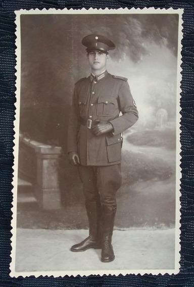Foto Postal Soldado Regimiento 1 Patricios Dec. Del 20.