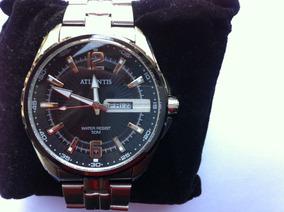 Relógio Atlantis G3221 Original Fundo Preto
