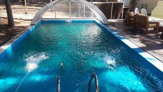 7 Cabañas Piscina Climatizada Mar Azul De 2 A 10 Personas