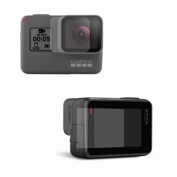 2 X Pelicula Vidro Temperado Camera Gopro Hero 7 Lente+visor