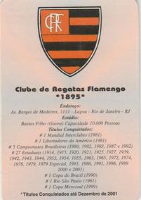 Calendário Bolso 2003 - Clube Regatas Flamengo - Bg2