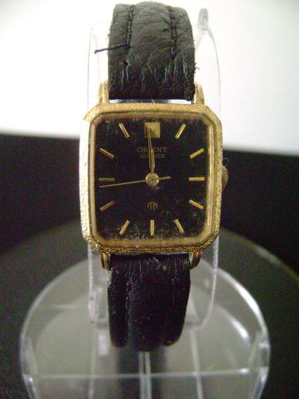 Relógio De Pulso Feminino Em Plaque De Ouro Orient