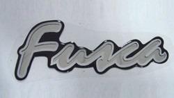 Emblema Adesivo Resinado Fusca Prata Série Prata Itamar