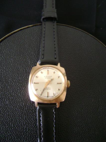 Antigo Relógio Levis De Pulso Feminino Em Plaque De Ouro
