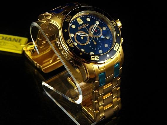 Relógio Invicta 0072 Banhado A Ouro Lindo Frete Grátis