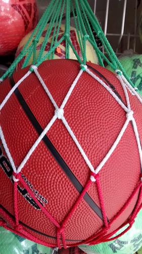 Imagen 1 de 2 de Red Un Balon Futbol Basquetbol Voleibol Sin Balon Balonera 1