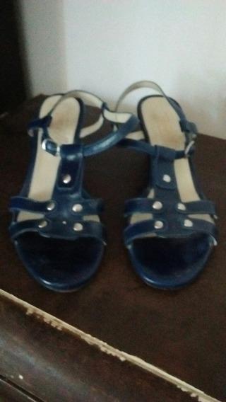 Sandalias Azules Talle 40