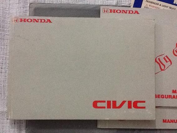 Manual Do Proprietário Honda Civic Edição 2001