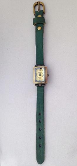 Relógio Couro Verde