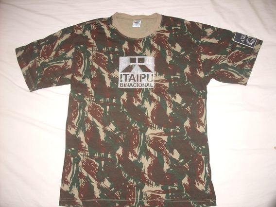 Camiseta Camuflada Bordadá Lembrança Itaipu.