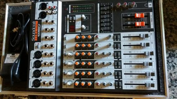 Mesa Sx 802 Fx 8 Canais Soundcraft Selenium Eq+efeito+case
