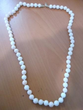 Collar Coral Rosa Y Blanco Broche Oro 14 Kt Envio Gratis