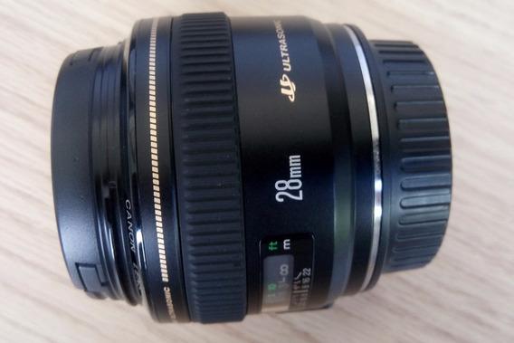 Super Lente Canon Ef 28mm F/1.8 Usm / Estado De Nova