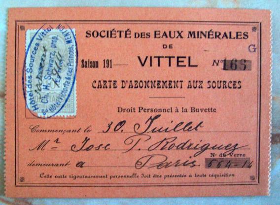 Francia - Tarjeta Autorización Venta Fiscal 1914 L3597